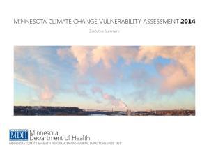 Minnesota Department of Health MINNESOTA CLIMATE & HEALTH PROGRAM, ENVIRONMENTAL IMPACTS ANALYSIS UNIT