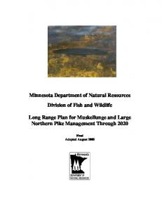 Minnesota Department of Natural Resources Division of Fish and Wildlife