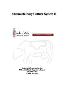 Minnesota Easy Culture System II