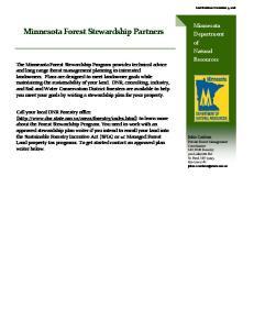 Minnesota Forest Stewardship Partners