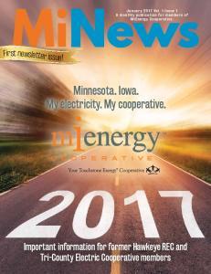 Minnesota. Iowa. My electricity. My cooperative
