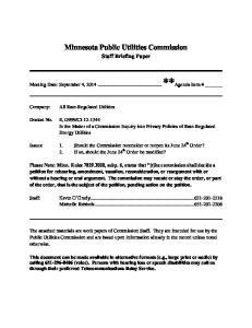 Minnesota Public Utilities Commission