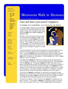 Minnesota Walk to Emmaus