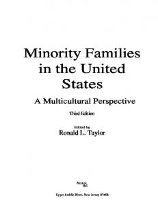Minority Families in the United States