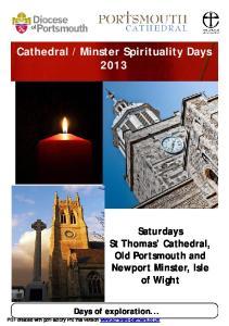 Minster Spirituality Days 2013