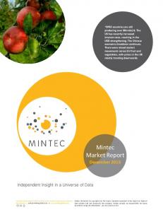 Mintec Market Report December 2015