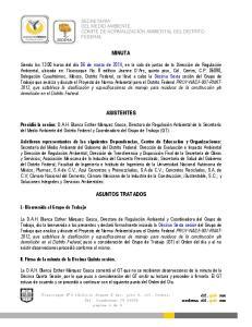 MINUTA ASISTENTES ASUNTOS TRATADOS