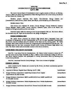 MINUTES LENOIR COUNTY BOARD OF COMMISSIONERS April 21, 2008