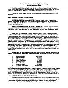 Minutes of the Regular Arcola City Council Meeting Monday, March 15, 2004