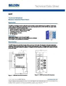 MIPP. Technical Datasheet Modular Industrial Patch Panel. Application. Construction