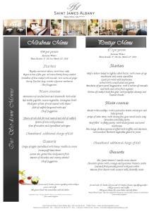 Mirabeau Menu. Prestige Menu. Our Sit-down Menus. Starters. Main courses. Desserts. Starters. Main courses. Desserts. 72 per person
