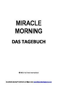 MIRACLE MORNING DAS TAGEBUCH