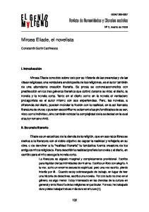 Mircea Eliade, el novelista