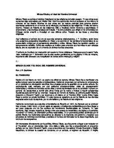 Mircea Eliade y el Ideal del Hombre Universal