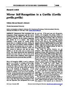 Mirror Self-Recognition in a Gorilla (Gorilla gorilla gorilla)