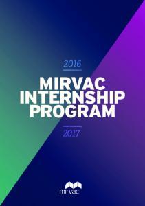 MIRVAC INTERNSHIP PROGRAM
