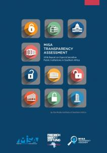 MISA Report on Open & Secretive Public Institutions in Southern Africa. by the Media Institute of Southern Africa
