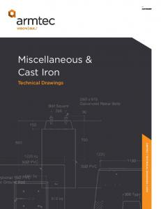 Miscellaneous & Cast Iron. Technical Drawings
