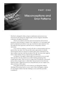 Misconceptions and Error Patterns