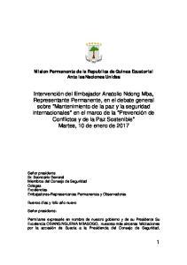 Mision Permanente de la Republica de Guinea Ecuatorial Ante las Naciones Unidas