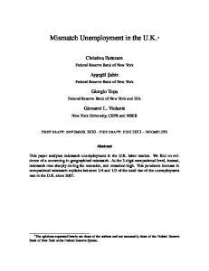 Mismatch Unemployment in the U.K