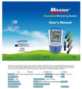 Mission Cholesterol Monitoring System