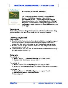 MISSION DEBRIEFING: Teacher Guide
