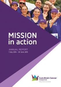 MISSION in action ANNUAL REPORT