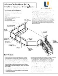 Mission Series Glass Railing Installation Instructions - Deck Application