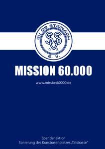 MISSION Spendenaktion Sanierung des Kunstrasenplatzes Talstrasse