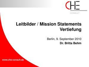 Mission Statements Vertiefung