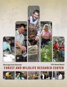 Mississippi State University Annual Report Forest and Wildlife Research Center