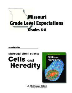 Missouri Grade Level Expectations