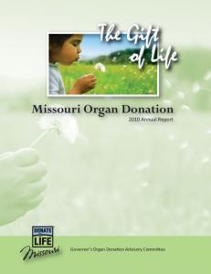 Missouri Organ Donation
