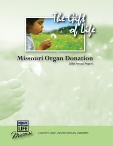Missouri Organ Donation