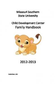 Missouri Southern State University. Child Development Center. Family Handbook