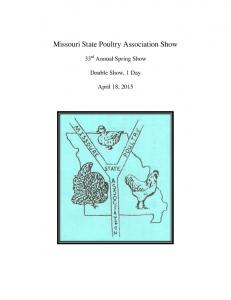 Missouri State Poultry Association Show