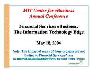 MIT Center for ebusiness Annual Conference