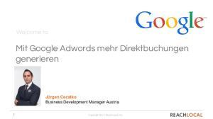 Mit Google Adwords mehr Direktbuchungen generieren