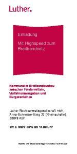 Mit Highspeed zum Breitbandnetz