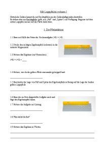 Mit Legopfeilen rechnen I. 1. Die Pfeiladdition