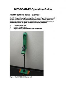 MIT-SCAN-T2 Operation Guide