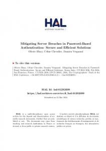 Mitigating Server Breaches in Password-Based Authentication: Secure and Efficient Solutions
