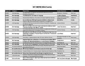 MIT(INSPIRE(2016(Finalists