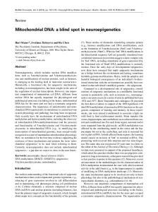 Mitochondrial DNA: a blind spot in neuroepigenetics