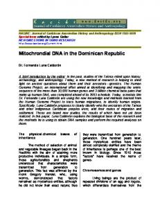 Mitochrondial DNA in the Dominican Republic