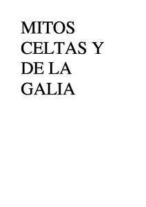 MITOS CELTAS Y DE LA GALIA