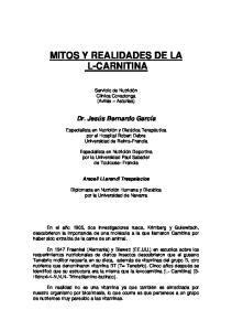 MITOS Y REALIDADES DE LA L-CARNITINA