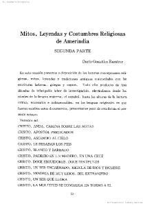 Mitos,Leyendas y CostumbresReligiosas de Amerindia