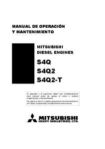 MITSUBISHI DIESEL ENGINES S4Q S4Q2 S4Q2-T